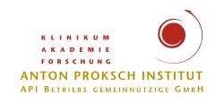Logo ANTON PROKSCH INSTITUT - API  Betriebs gemeinnützige GmbH