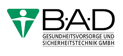 Logo B·A·D Gesundheitsvorsorge und Sicherheitstechnik GmbH